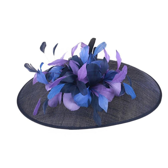 Blue Large Brim Flowers Royal Kentucky Derby Hats | Bridelily - kentucky derby hats