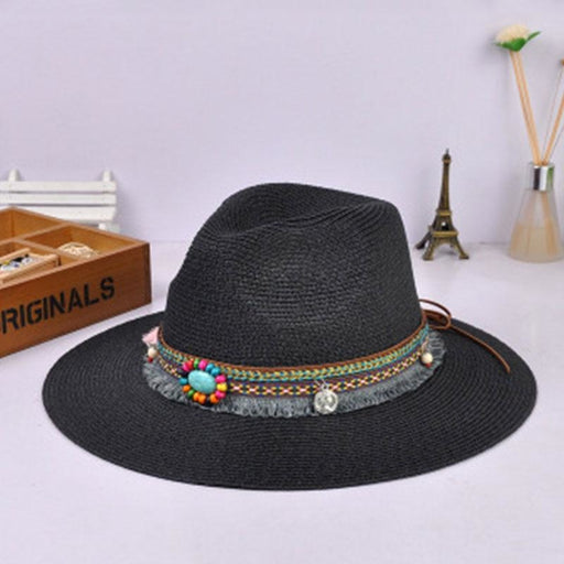 Bohemia Style Vintage With Wide Birm Straw Hats | Bridelily - straw hats