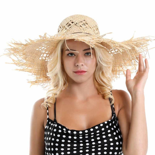 Breathable Big Wide Brim Sunshade Straw Hats | Bridelily - straw hats