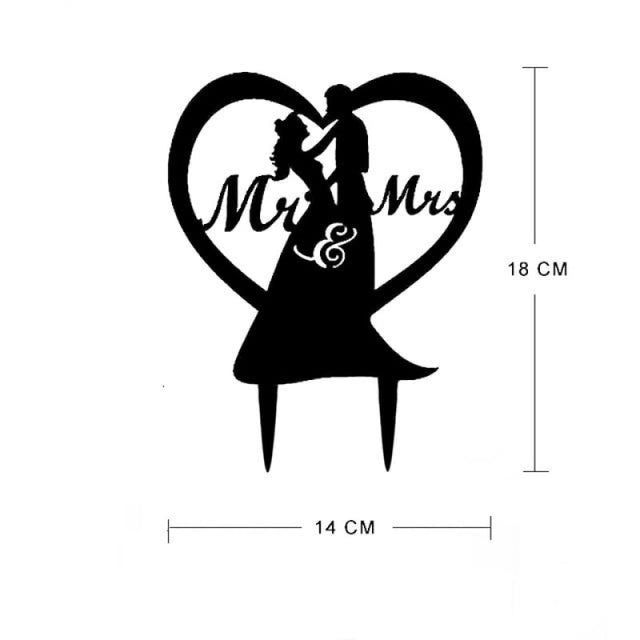 Bride Groom Mr Mrs Wedding Cake Toppers | Bridelily - N - cake toppers