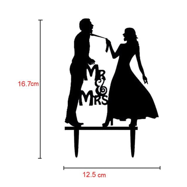 Bride Groom Mr Mrs Wedding Cake Toppers | Bridelily - T - cake toppers