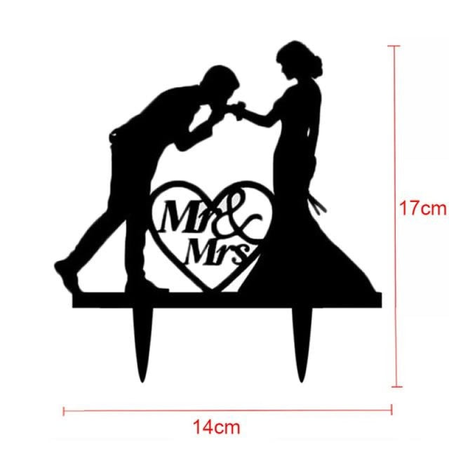 Bride Groom Mr Mrs Wedding Cake Toppers | Bridelily - W - cake toppers