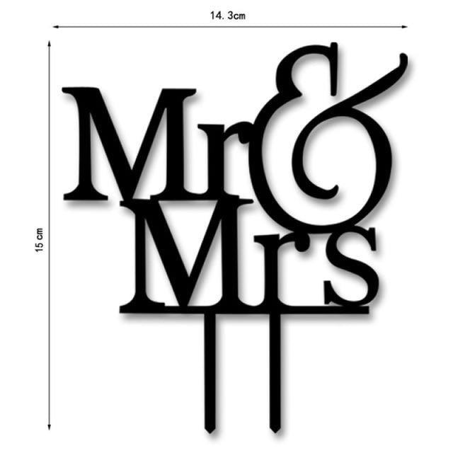 Bride Groom Mr Mrs Wedding Cake Toppers | Bridelily - K - cake toppers