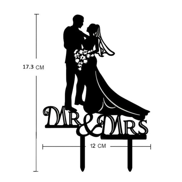 Bride Groom Mr Mrs Wedding Cake Toppers | Bridelily - U - cake toppers