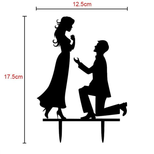 Bride Groom Mr Mrs Wedding Cake Toppers | Bridelily - B - cake toppers