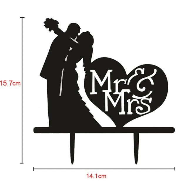 Bride Groom Mr Mrs Wedding Cake Toppers | Bridelily - Q - cake toppers