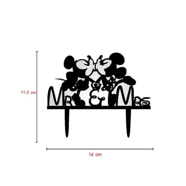 Bride Groom Mr Mrs Wedding Cake Toppers | Bridelily - M - cake toppers