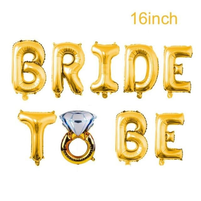 Bride to Be Satin Wedding Decorations | Bridelily - Bride to be and Ring - wedding decorations