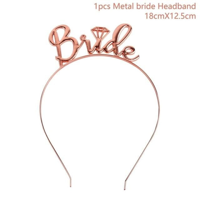 Bride to Be Satin Wedding Decorations | Bridelily - Rosegold bride - wedding decorations