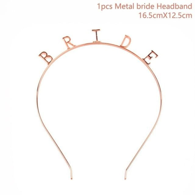 Bride to Be Satin Wedding Decorations | Bridelily - Rose gold hairband - wedding decorations