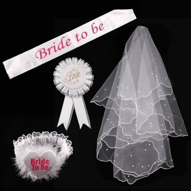 Bride to Be Satin Wedding Decorations | Bridelily - Bride to Be set - wedding decorations