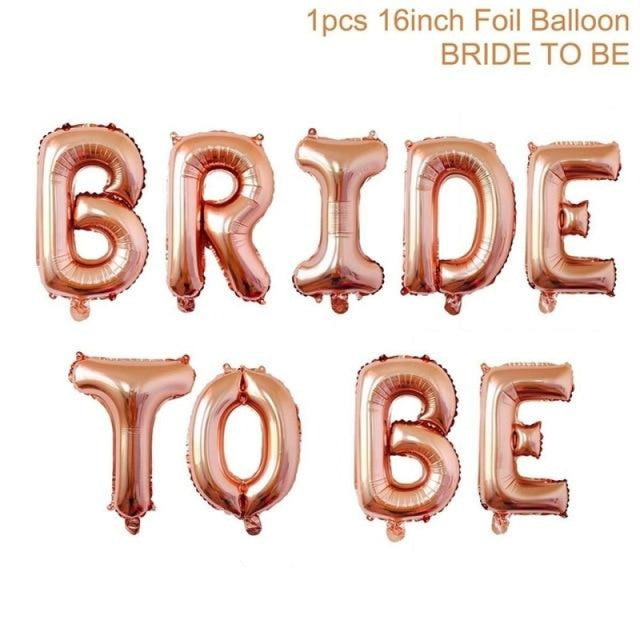 Bride to Be Satin Wedding Decorations | Bridelily - rosegold bride to be - wedding decorations