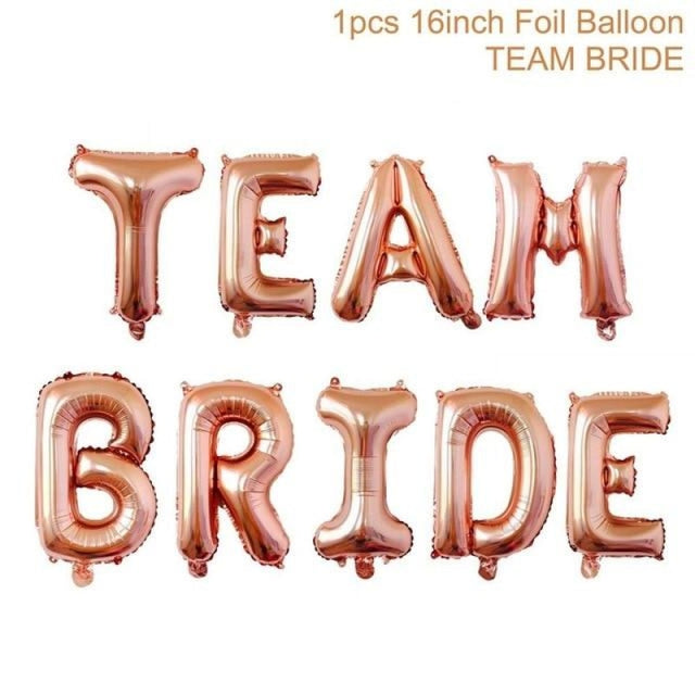 Bride to Be Satin Wedding Decorations | Bridelily - rose gold team bride - wedding decorations