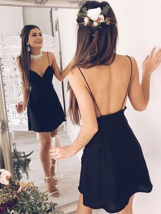 Bridelily A-Line Sweetheart Chiffon Backless Short/Mini Dresses - Prom Dresses