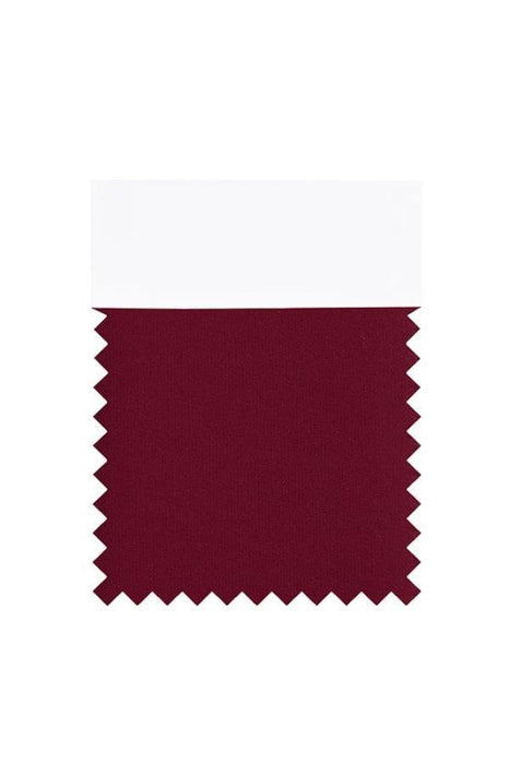 Bridelily Chiffon Swatch with 34 Colors - Burgundy - Swatches