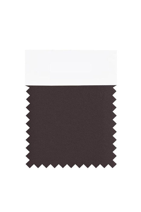 Bridelily Chiffon Swatch with 34 Colors - Chocolate - Swatches