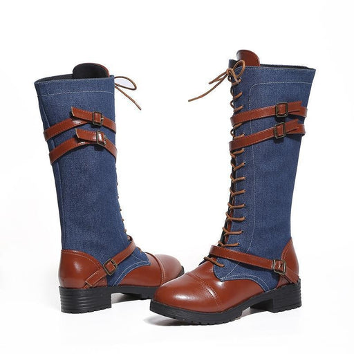 BrideLily New Round Head Buckle Woman Boots - Boots
