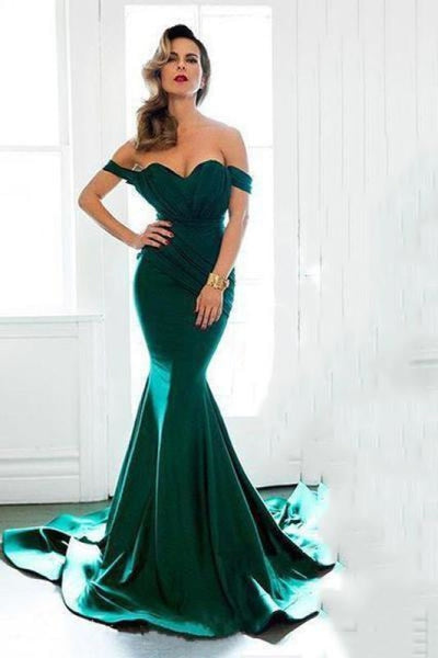 Bridelily Off Shoulder Sexy Formal Evening Dress Sheath 2019 Long Prom Dresses Custom Made CE0094 - Prom Dresses