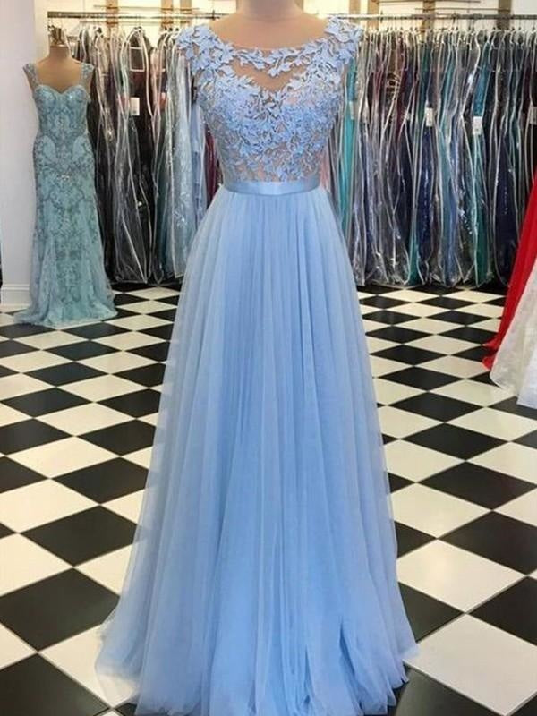 Mermaid Long Sleeves Sleeveless Spaghetti Strap Applique Fitted Evening Dress/Prom Dress