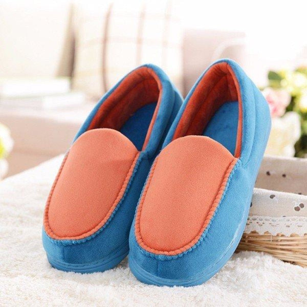 Candy Color Bowknot Slip On Flat Home Shoes - Lake Blue / 5 - home shoes