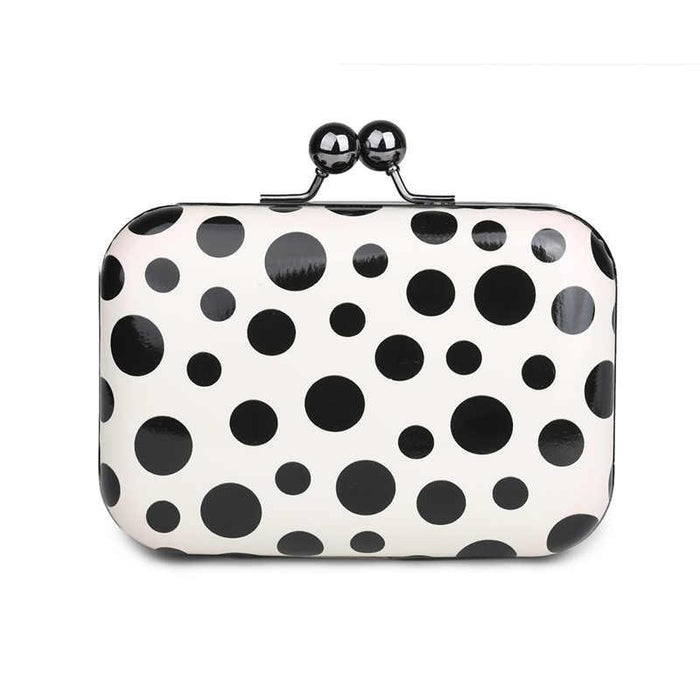 Candy Plaid Leather Clutch Small Wedding Handbags | Bridelily - wedding handbags