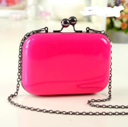 Candy Plaid Leather Clutch Small Wedding Handbags | Bridelily - 32 - wedding handbags