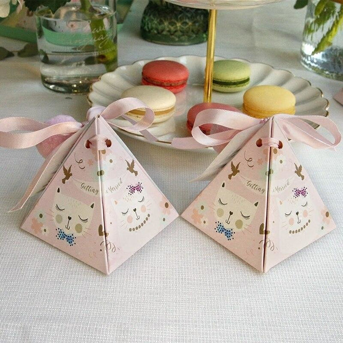 Cat Style Triangular Sugar 100 PCS Favor Holders | Bridelily - favor holders