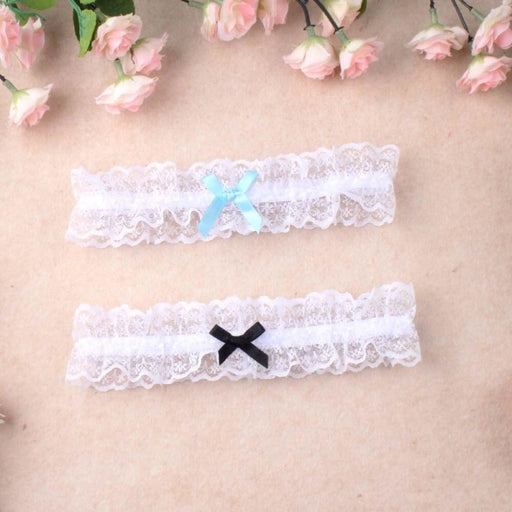 Charming Bowknot Lace Floral Wedding Garters | Bridelily - garters