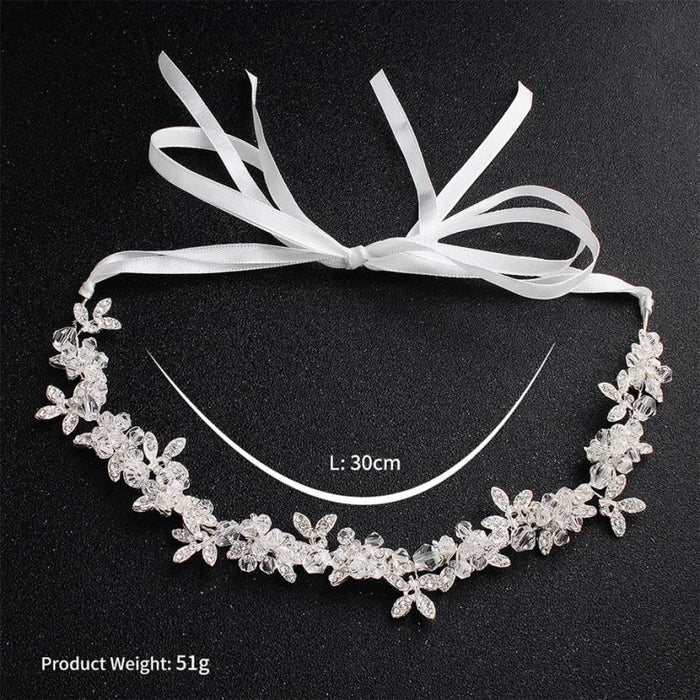 Charming Crystal Leaves Flexible Headbands | Bridelily - headbands