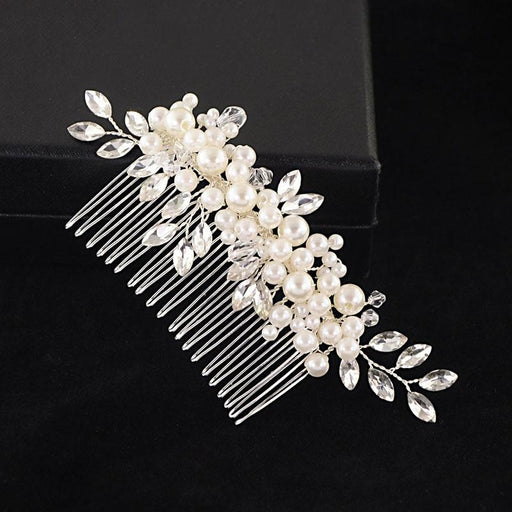 Charming Crystal Pearls Womens Combs & Barrettes - combs and barrettes