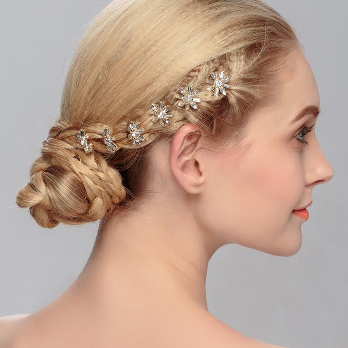 Charming Hair Pin Flower Pattern Hairpins | Bridelily - hairpins
