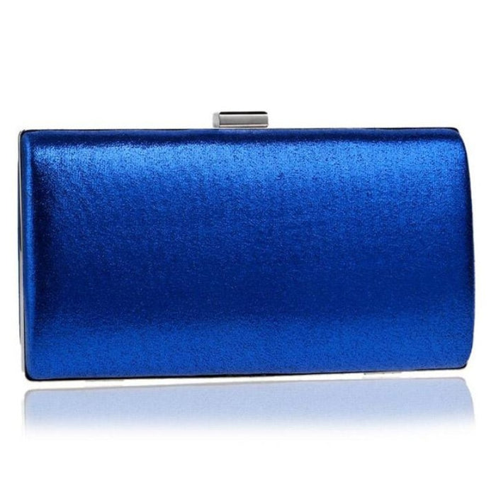 Charming Handmade Cluth Chain Wedding Handbags | Bridelily - blue / small evening clutch - wedding handbags