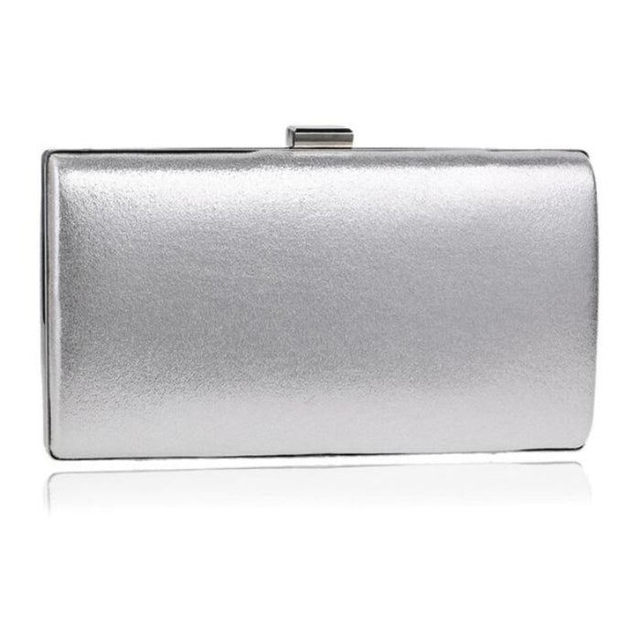 Charming Handmade Cluth Chain Wedding Handbags | Bridelily - silver / small evening clutch - wedding handbags