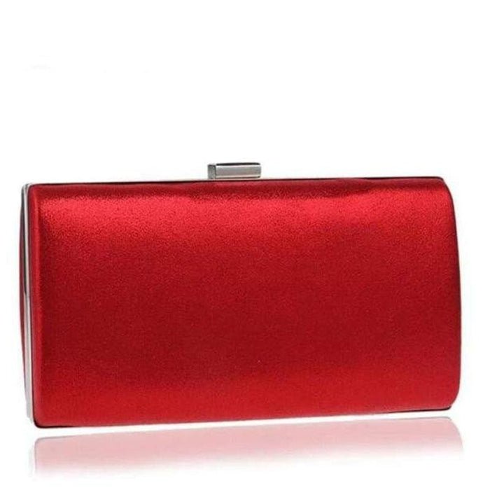 Charming Handmade Cluth Chain Wedding Handbags | Bridelily - red / small evening clutch - wedding handbags