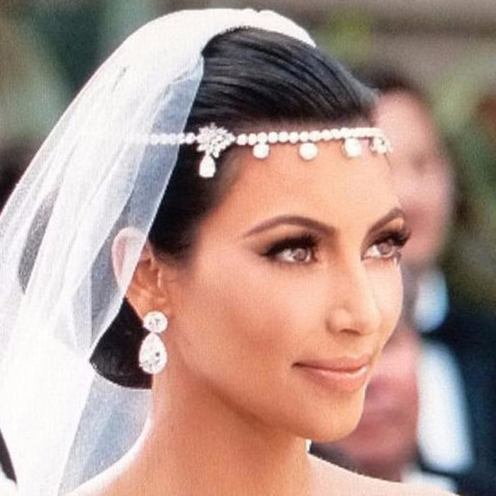 Charming Jewelry Head Princess Floral Headpieces | Bridelily - White - floral headpieces