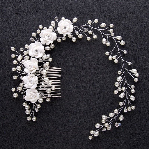 Charming Pearl Handmade Flowers Floral Headpieces | Bridelily - Same as picture colour - floral headpieces