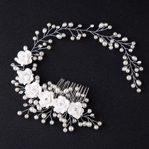 Charming Pearl Handmade Flowers Floral Headpieces | Bridelily - floral headpieces