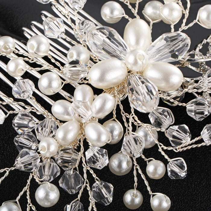 Charming Pearls Handmade Crystal Combs & Barrettes | Bridelily - combs and barrettes