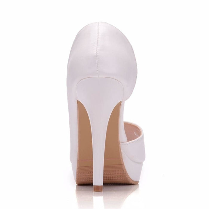 Charming Platform Peep Toe Wedding Sandals | Bridelily - wedding sandals