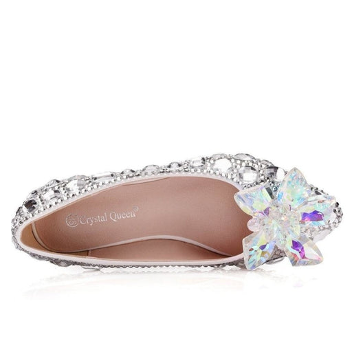 Charming Rhinestone Handmade Wedding Flats | Bridelily - wedding flats