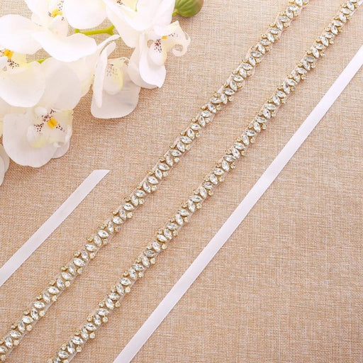 Charming Rhinestone Handmade Wedding Sashes | Bridelily - wedding sashes