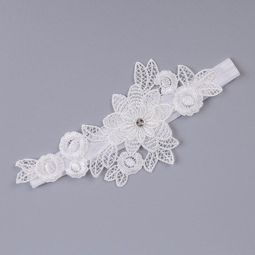 Charming Rhinestone Lace Wedding Garters | Bridelily - garters