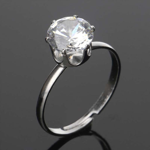 Charming Silver Crystal Handmade Wedding Rings | Bridelily - rings
