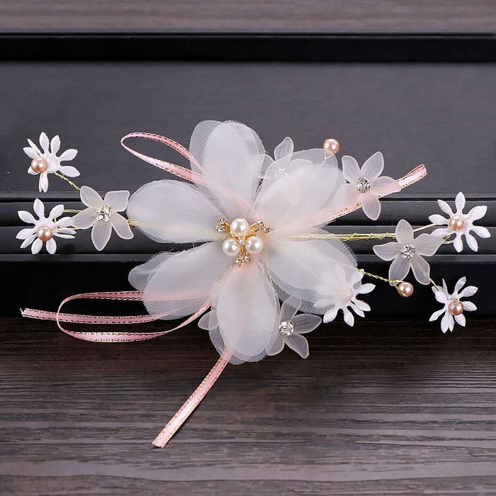 Charming White Flower Handmade Floral Headpieces | Bridelily - floral headpieces