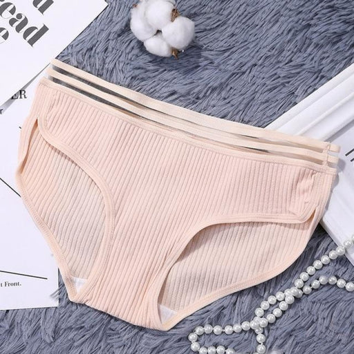 Charms Striped Breathable Underwear Panties | Bridelily - Skin / One Size - panties