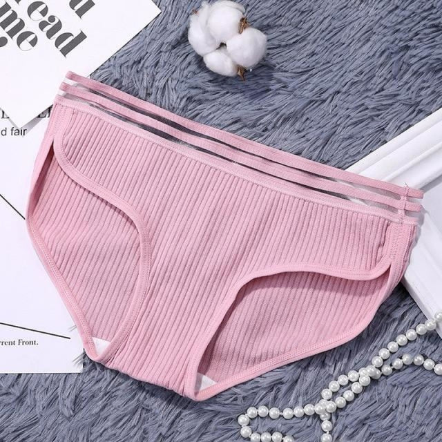 Charms Striped Breathable Underwear Panties | Bridelily - Pink / One Size - panties