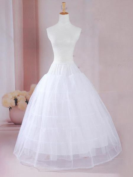 Cheap Ball Gown 2-Layers Underskirt Wedding Petticoats - One Size / White - wedding petticoats