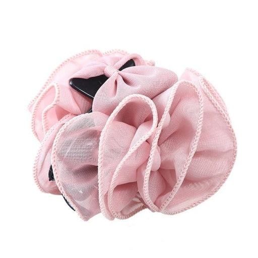 Chiffon Crab Bowknot Flower Girl Accessories | Bridelily - A( Pink) - flower girl accessories