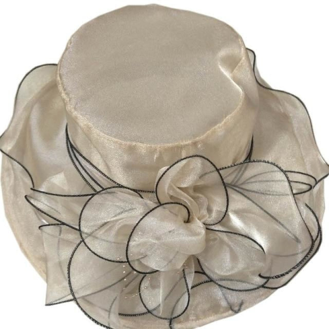 Church Bow Bucket Bowler Wide Brim Kentucky Derby Hats | Bridelily - Khaki - kentucky derby hats