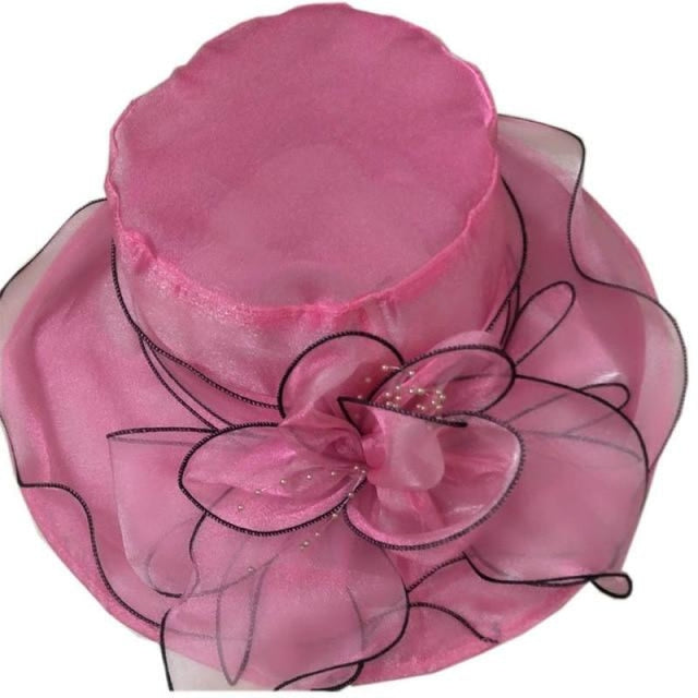 Church Bow Bucket Bowler Wide Brim Kentucky Derby Hats | Bridelily - rose - kentucky derby hats